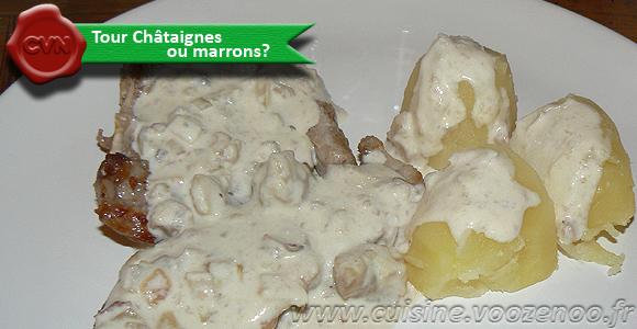 Côtes de veau du Limousin, sauce châtaignes
