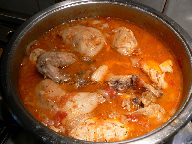 Poulet façon creole fin