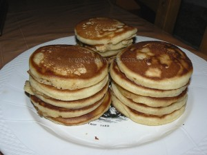 Pâte à pancakes fin