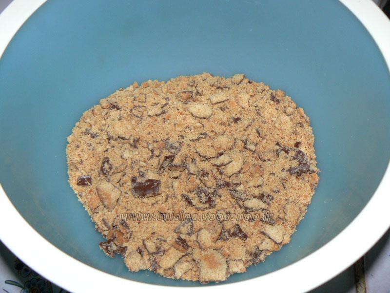 Truffes aux biscuits Granola etape1