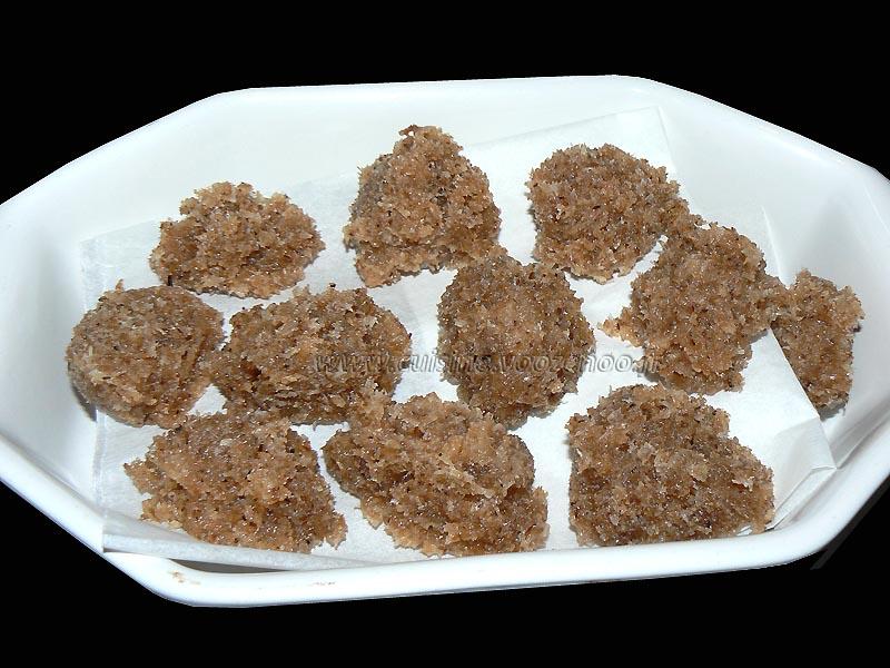 Palets philippins à la noix de coco presentation