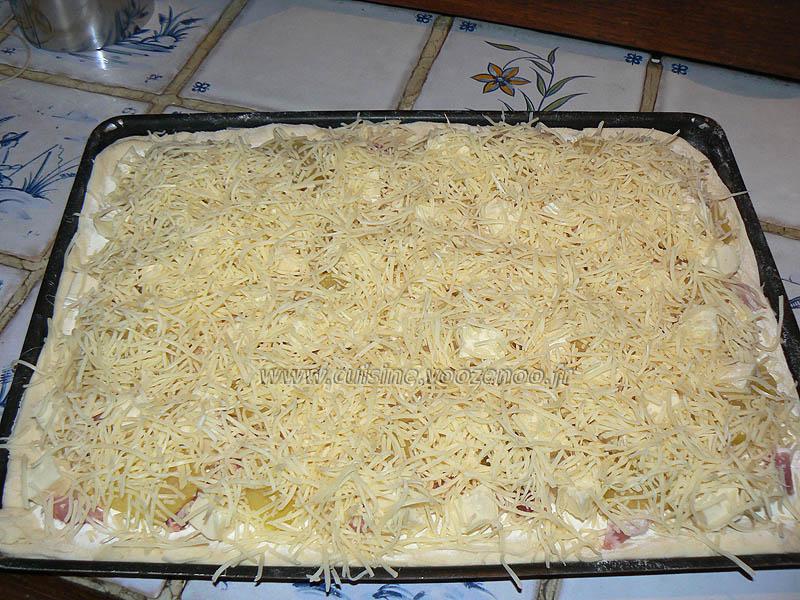 Pizza tartiflette etape3