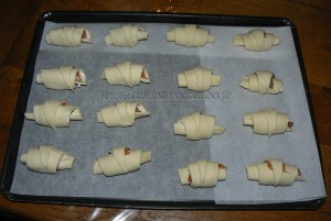 Mini croissants au saumon fume et fromage frais etape4