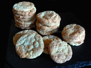 Cookies au chocolat blanc presentation