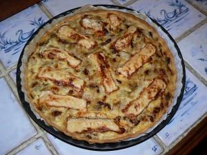 Tarte aux endives et camembert fin