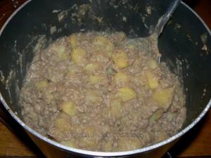 Poelée de pommes de terre et viande hachée fin