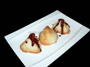 Rochers coco et chocolat presentation