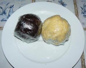 Sables pur beurre nature et chocolat etape2