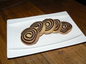 Sables pur beurre nature et chocolat presentation