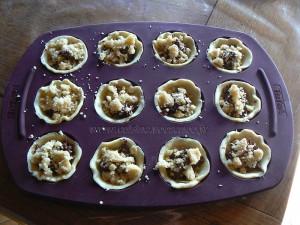 Mini tartelettes Nutela crumble etape4