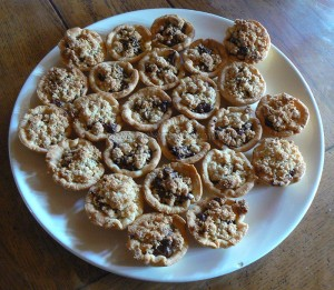Mini tartelettes Nutela crumble fin