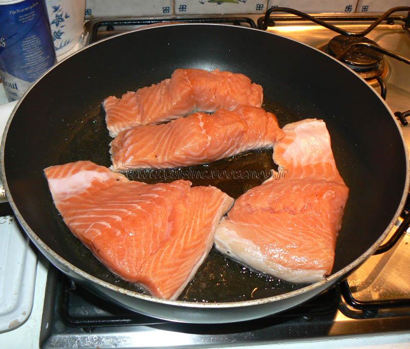 Saumon sauce soja etape1