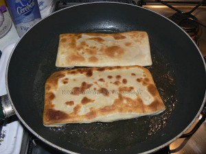 Naans jambon fromage etape4