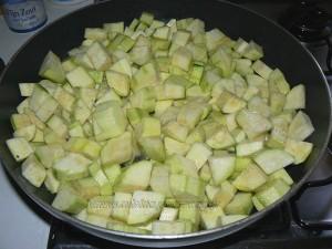 Flan de courgettes au camembert etape1
