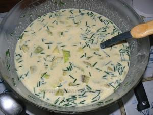 lFlan de courgettes au camembert etape2