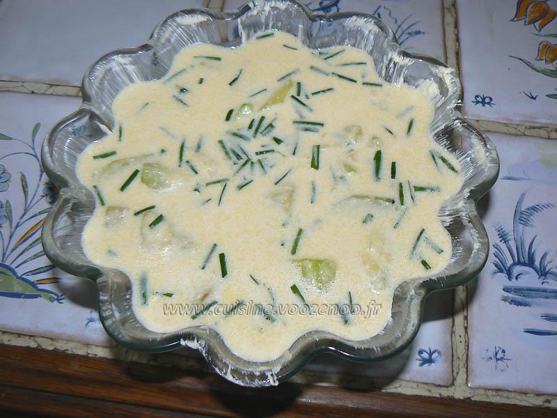 lFlan de courgettes au camembert etape4