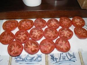 Panisse maison et tomates à la Provençale etape4