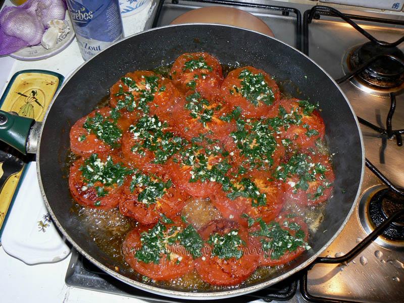Panisse maison et tomates à la Provençale etape7