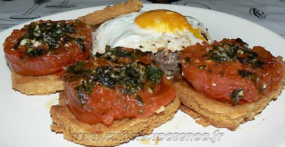 Panisse maison et tomates à la Provençale