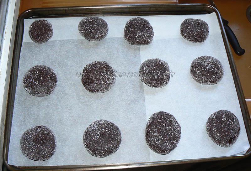 Cookies au chocolat avec coeur tendre au beurre de cacahuete etape7