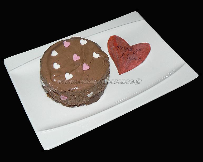 Cheesecake au nutella et mascarpone sans cuisson  presentation