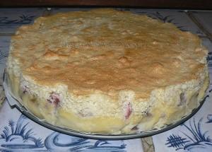 Gâteau magique à la rhubarbe presentation