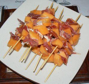 Soupe de melon et ses brochettes etape2