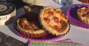 Tartelettes aux tomates cerises, parmesan et basilic fin3