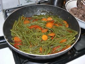 Wok de boeuf saute aux legumes croquants etape2