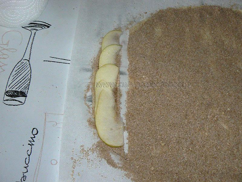 Rosaces aux pommes,cannelle etape3