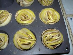 Rosaces aux pommes,cannelle etape4