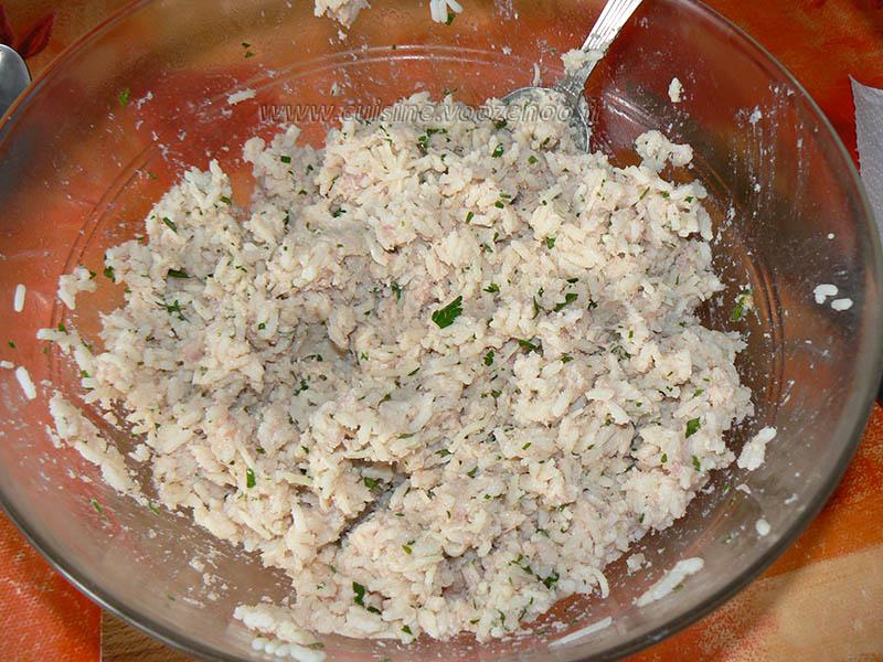 Tomates farcies au riz et oeufs gratines etape2