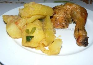 Courgettes longues et pommes de terre cucuzza presentation
