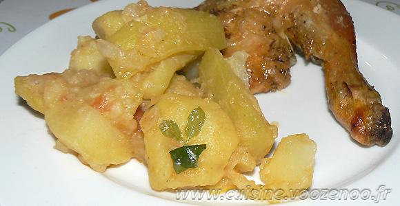 Courgettes longues et pommes de terre cucuzza une