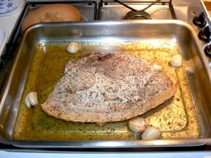 Rouelle de porc et pommes de terre au four etape2