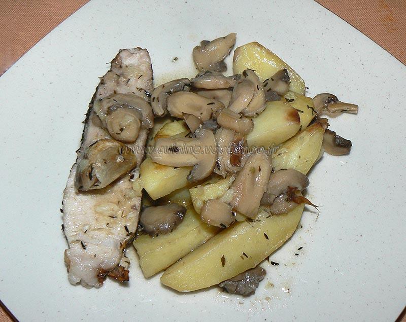 Rouelle de porc et pommes de terre au four presentation