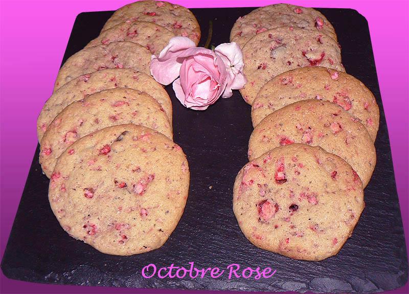 Cookies roses aux pralines de saint genix presentation