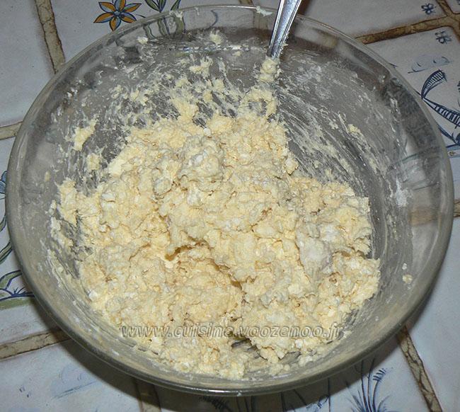 Galette salée au fromage de vache  etape3