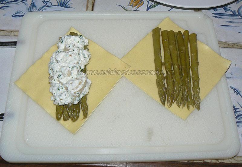 Lasagnes aux asperges, sauce safranée etape3
