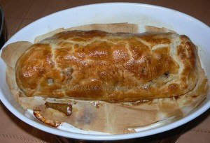 Filet mignon de porc à la saucisse fumé en feuilleté etape3