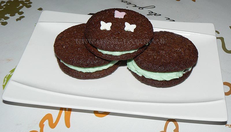 Biscuits double choco-menthe fin