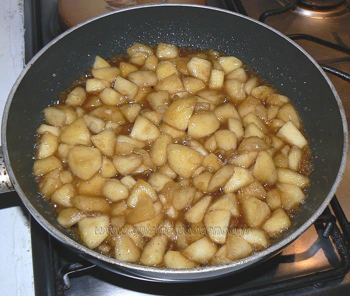 Muffins aux pommes caramelisées, beurre salé etape2