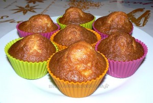 Muffins aux pommes caramelisées, beurre salé presentation