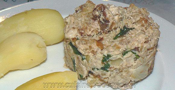 Délice au thon, pain et mascarpone