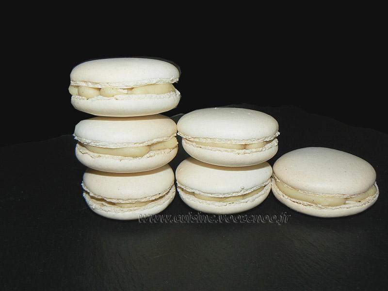 Macarons vanill et chocolat blanc fin