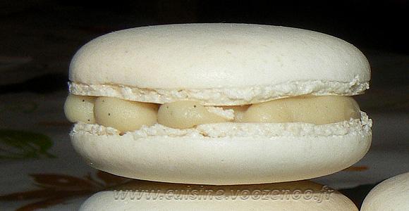 Macarons vanill et chocolat blanc une