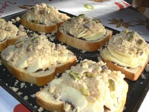 Crumble de pommes en tartines gourmandes etape4