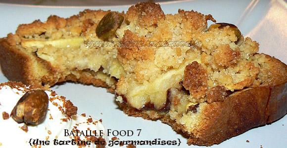 Crumble de pommes en tartines gourmandes #bataillefood7#