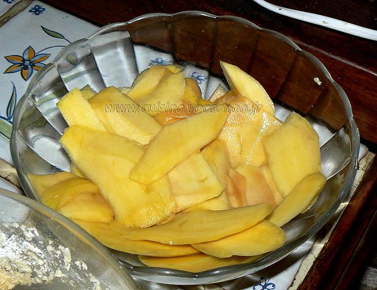 Galette des rois, mangue, noix de coco et citron vert etape1