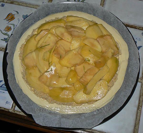 Galette des rois, mangue, noix de coco et citron vert etape4